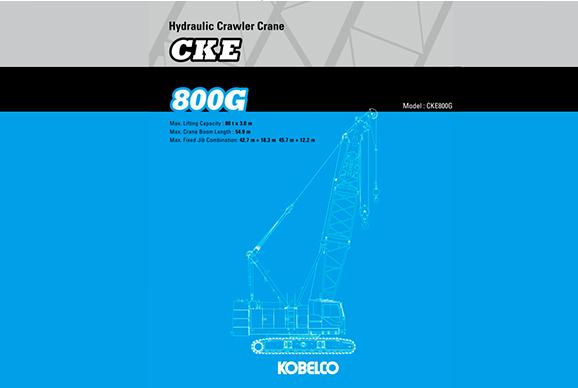 Kobelco CKE800G-2 80t Crawler Crane hire