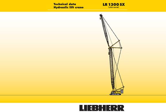Liebherr LR1300SX 300t Crawler crane hire