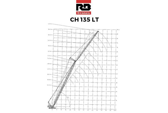 RBCH135 135t crawler crane hire brochure