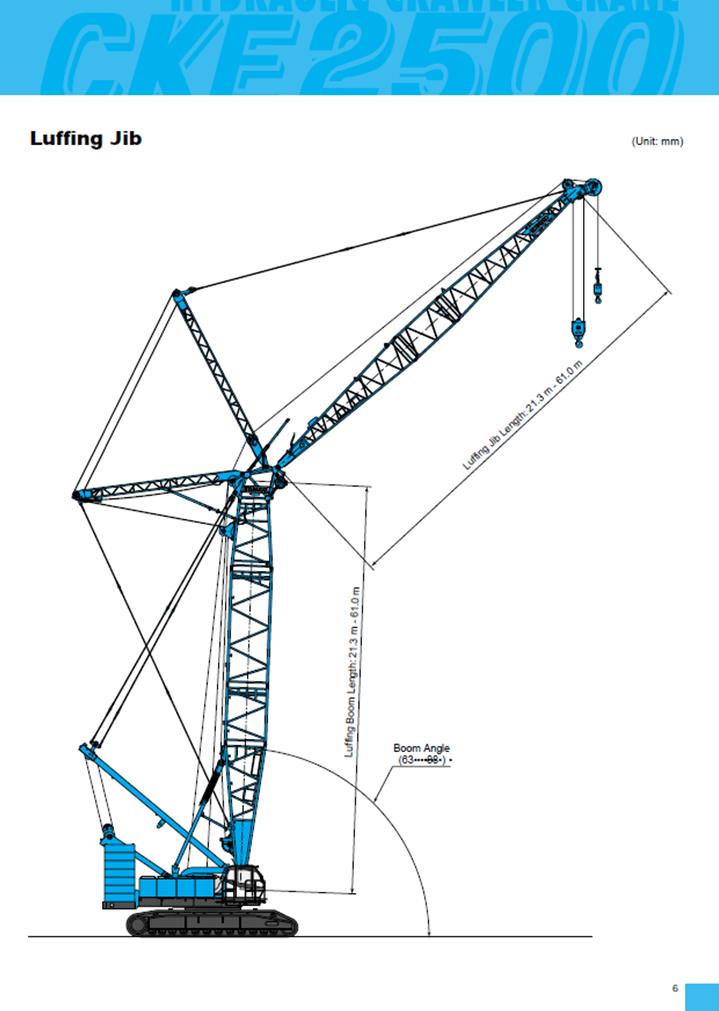 Kobelco CKE2500-2, 250t crawler crane hire
