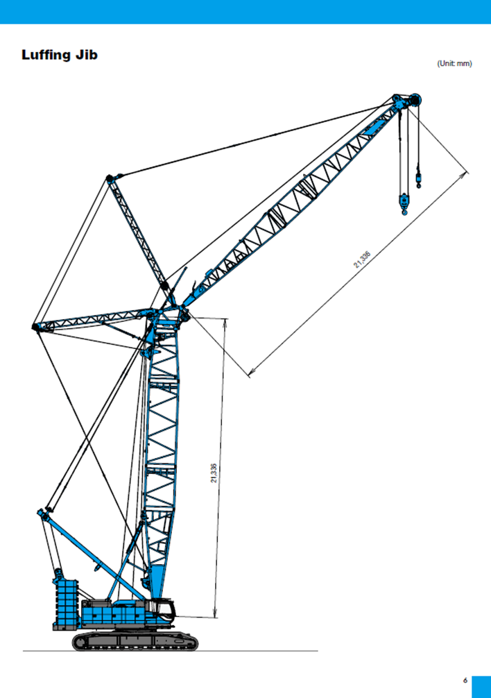 CKE2500G-2 dimensions 250t crawler crane hire
