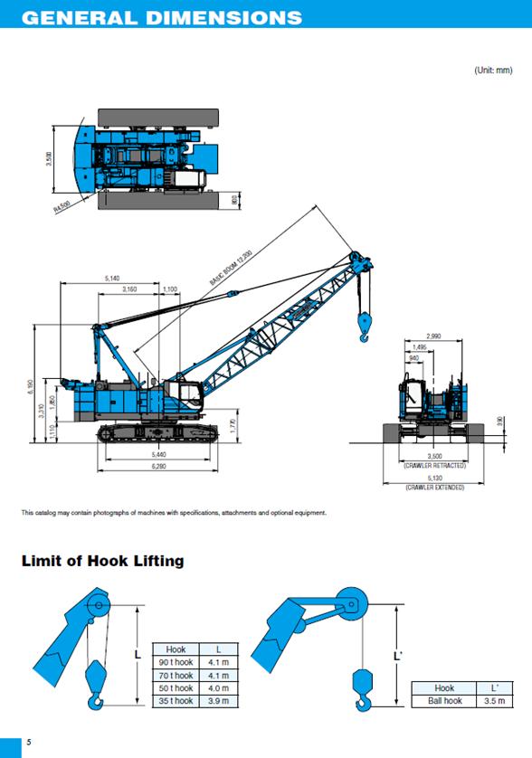 Kobelco CKE900G-2 100t Crawler crane hire