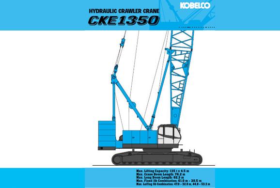 hydraulic crawler crane cke1350 kobelco