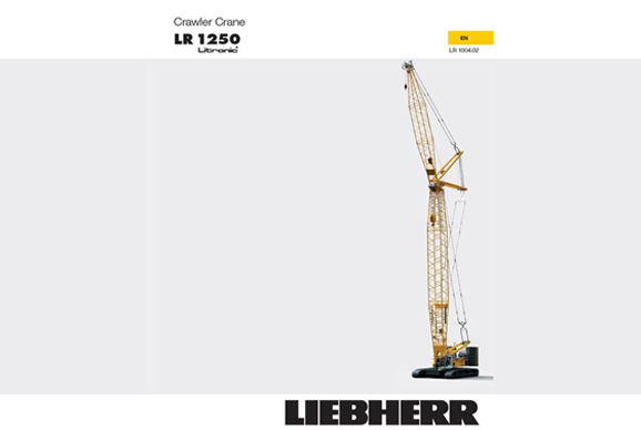 liebherr lr1250 crawler crane for hire