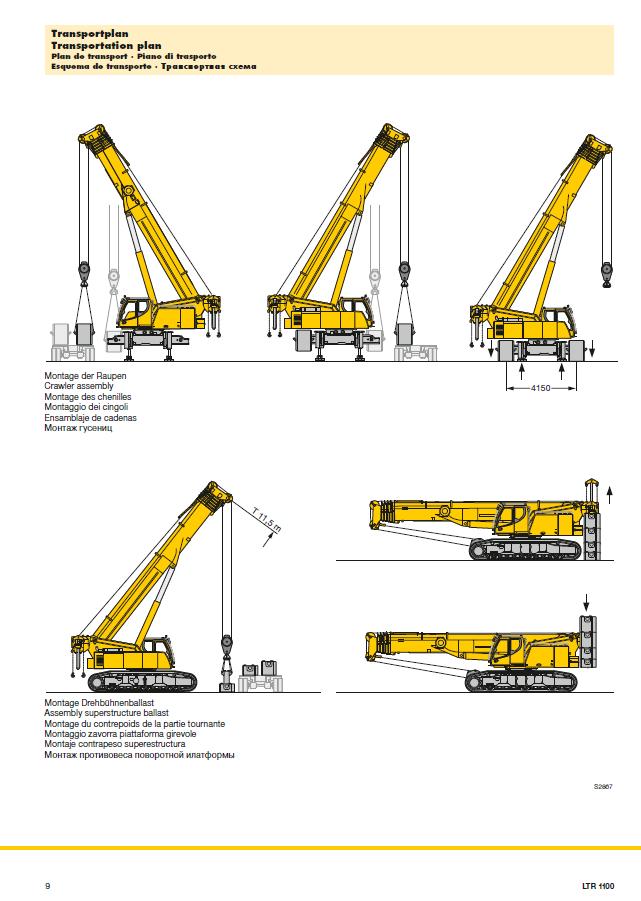 Liebherr LTR1100 crane hire
