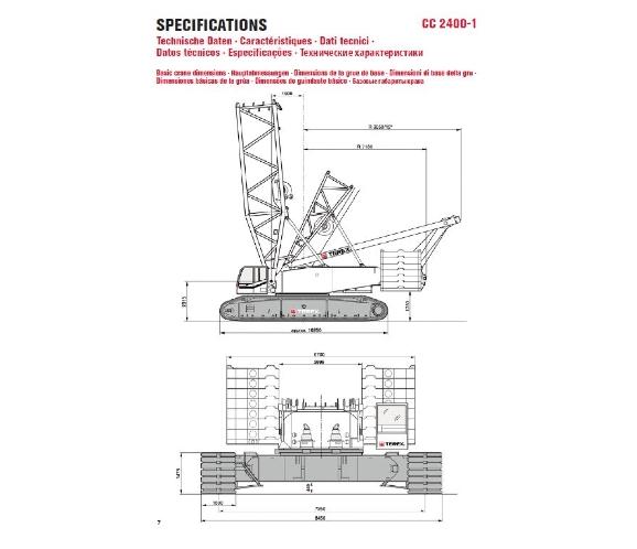 Demag CC2400-1 dimensions