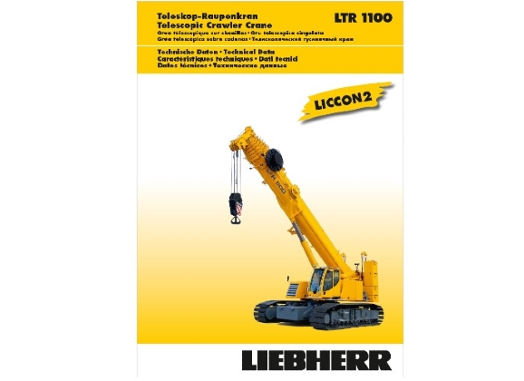 Liebherr LTR1100 100t telescopic crane hire