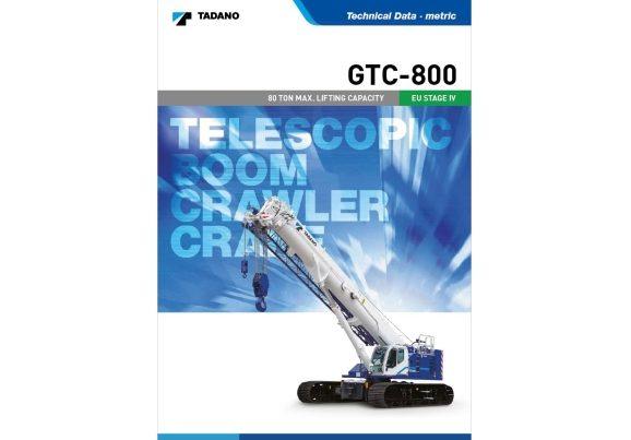 Tadano GTC800 80t telescopic crawler crane hire