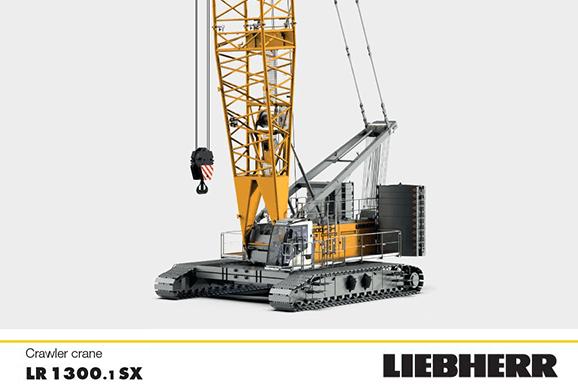 LR1300.1sx Crawler Crane Hire